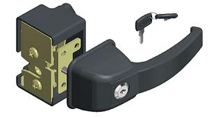 Cerradura para cabina con llave