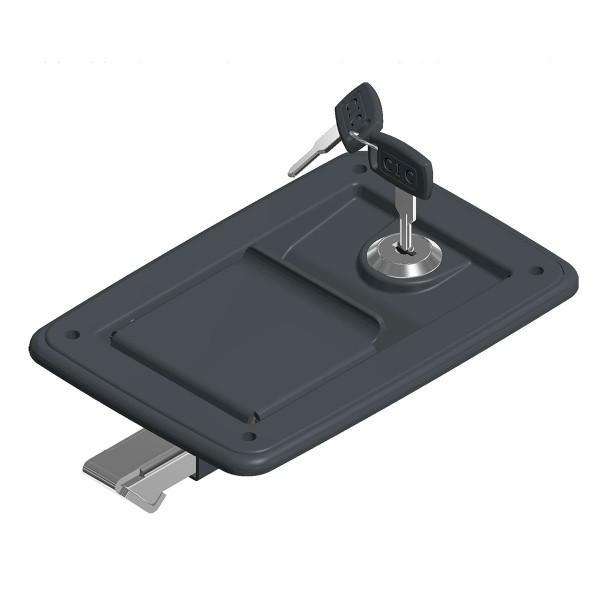 Cerradura de pestillo con 4 aguj. y llave